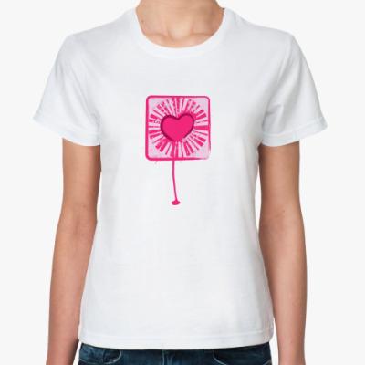 Классическая футболка Разбитое сердце