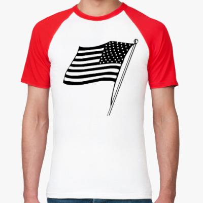 Футболка реглан Флаг Америки