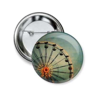 Значок 50мм колесо