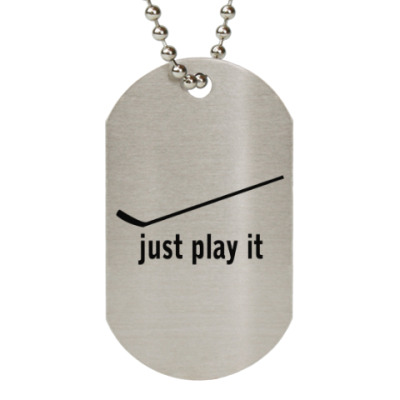 Жетон dog-tag Just play it