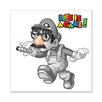 Наклейка (стикер) Марио - жизнь игра