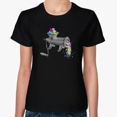 Женская футболка Пиксельная мясорубка