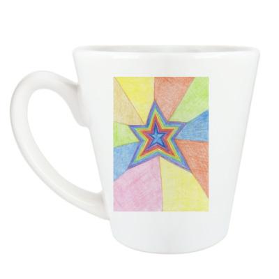 Чашка Латте 'Звезда'