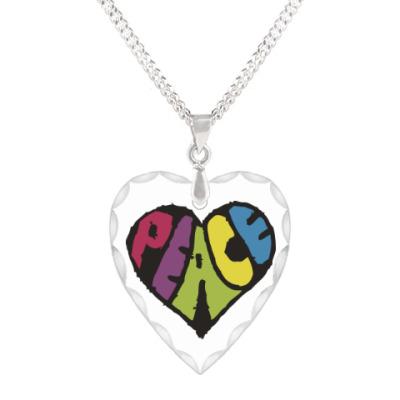 Кулон 'сердце' Сердце мира