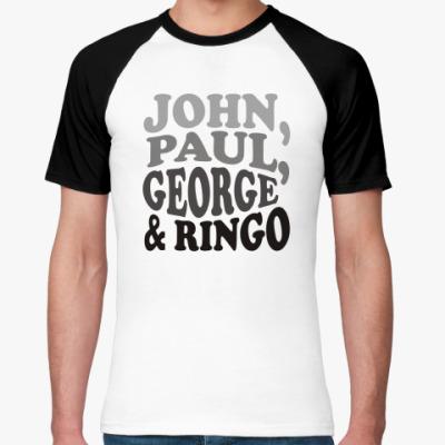 Футболка реглан John.Paul.George&Ringo