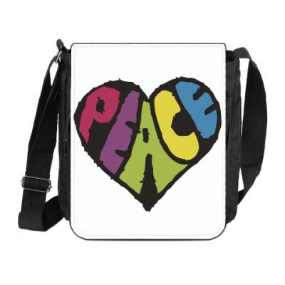 Сумка на плечо (мини-планшет) Сердце мира