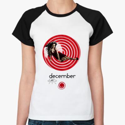 Женская футболка реглан December