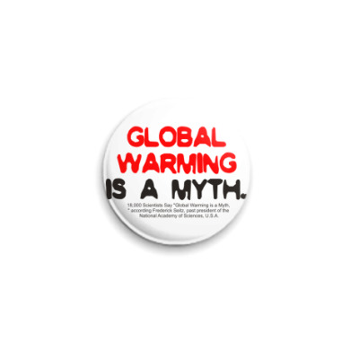 Значок 25мм global warming