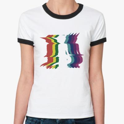Женская футболка Ringer-T Танцы пришельца