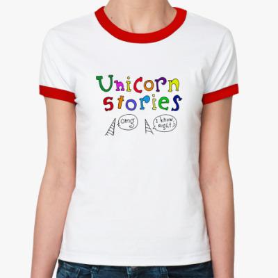 Женская футболка Ringer-T  Unicorn