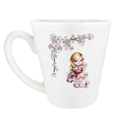 Чашка Латте Весенняя девочка
