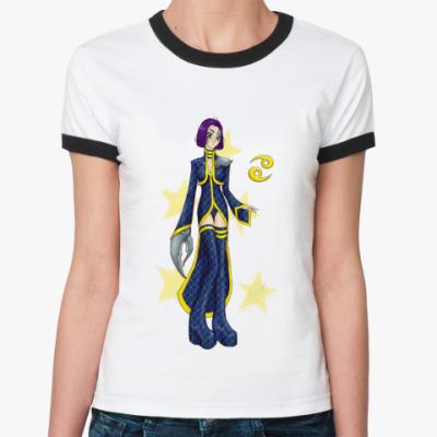 Женская футболка Ringer-T   'Рак'