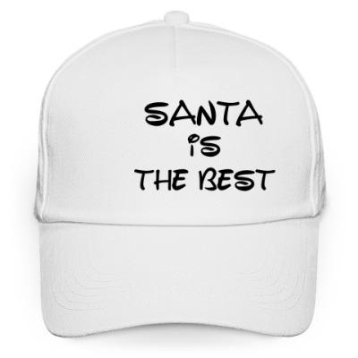 Кепка бейсболка Надпись Santa is the best