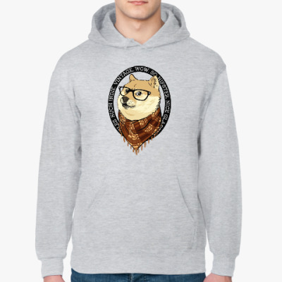 Толстовка худи Doge the Hipster