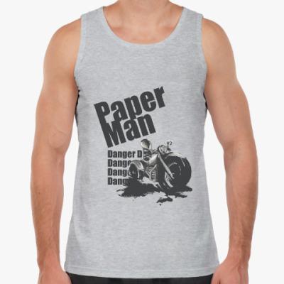 Майка Paper man