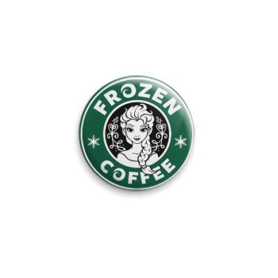 Значок 25мм Frozen coffee