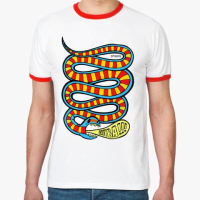 Футболка Ringer-T Яркая змея «HABA»
