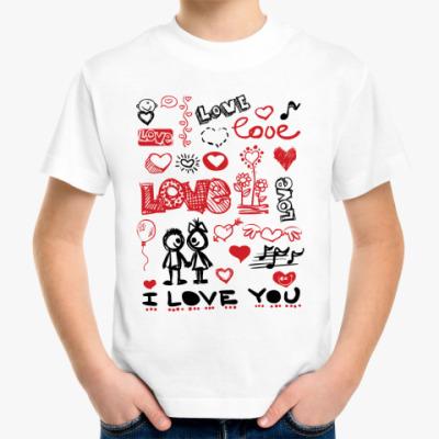 Детская футболка Love mix