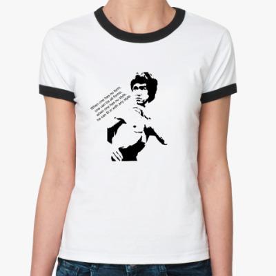 Женская футболка Ringer-T Брюс Ли