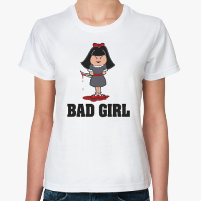 Классическая футболка  bad girl