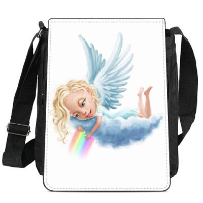 Сумка-планшет Ангел и радуга