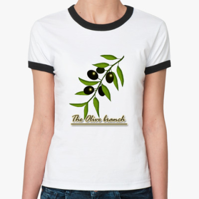 Женская футболка Ringer-T   Маслины