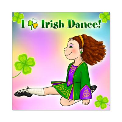 Наклейка (стикер) Irish Dance