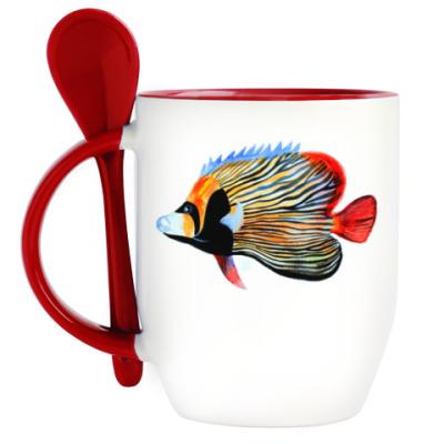 Кружка с ложкой рыбный день