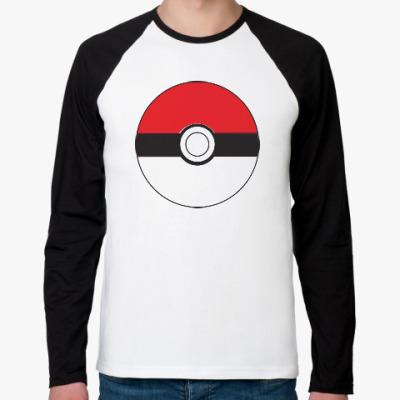 Футболка реглан с длинным рукавом Покемон - Покебол / Poke Ball - The Pokemon