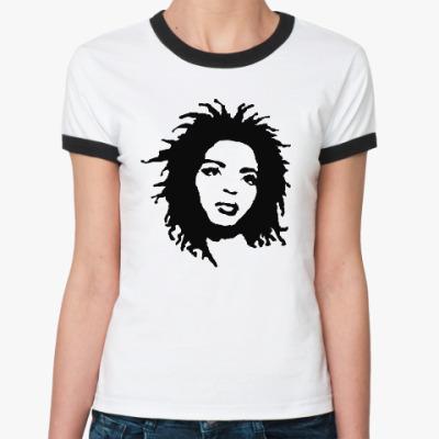 Женская футболка Ringer-T Lauryn Hill
