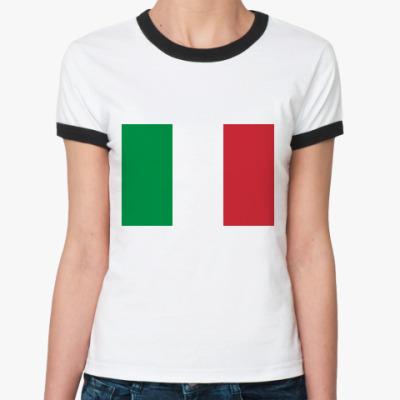 Женская футболка Ringer-T  Италия