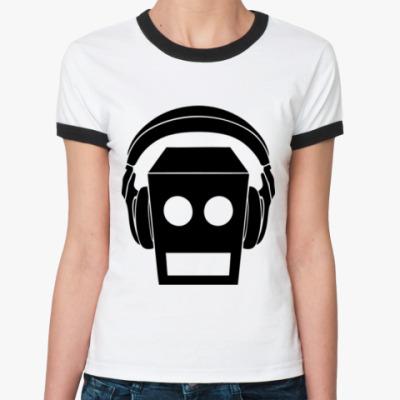 Женская футболка Ringer-T Робот