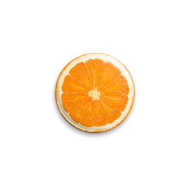 Значок 25мм  Апельсинчик