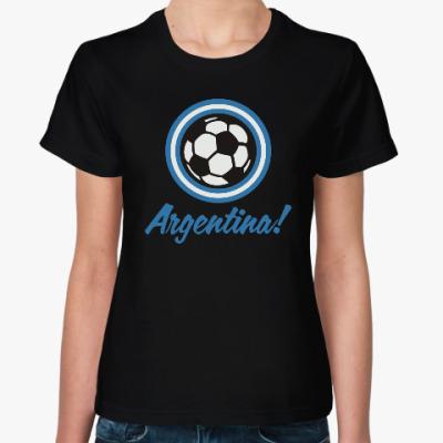 Женская футболка Аргентина