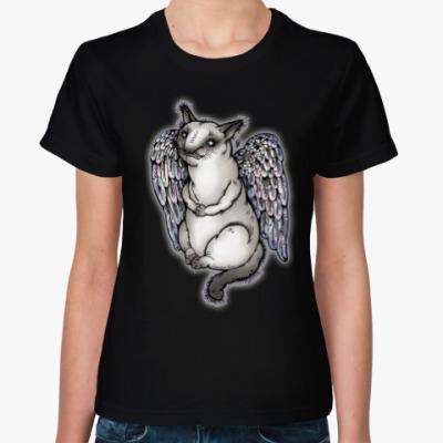 Женская футболка Самодостаточная кошка