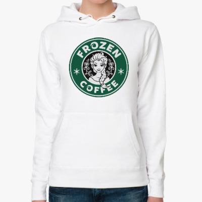 Женская толстовка худи Frozen coffee