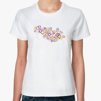 Классическая футболка  'Разноцветные кольца'