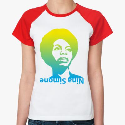 Женская футболка реглан Nina Simone