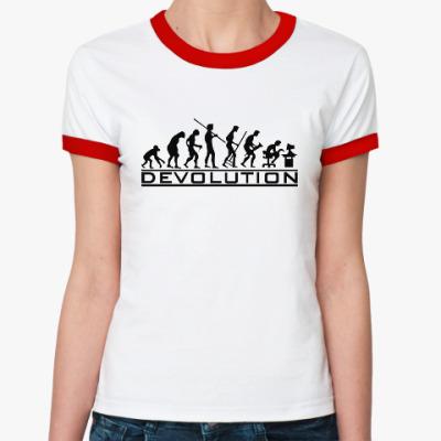 Женская футболка Ringer-T Регресс