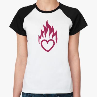 Женская футболка реглан Огонь