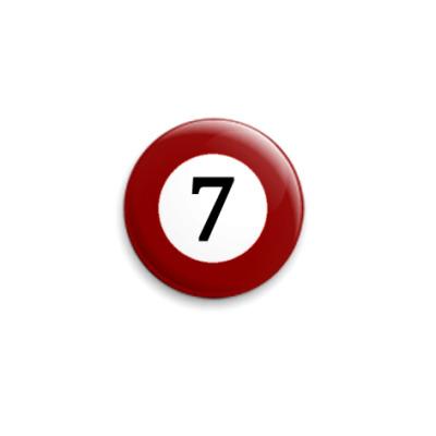 Значок 25мм  бильярдный шар