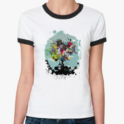 Женская футболка Ringer-T Dota: Душа Дерева