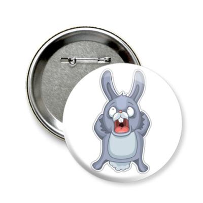Значок 58мм   Кролик