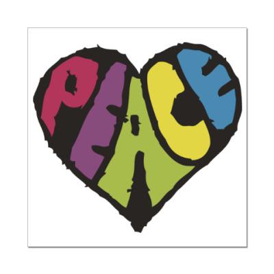 Наклейка (стикер) Сердце мира