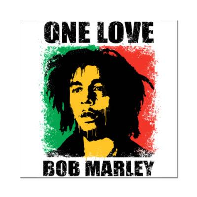 Наклейка (стикер)  'Bob Marley'