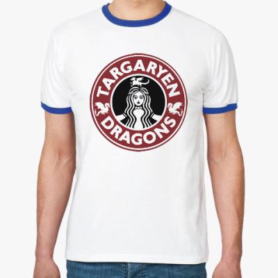 Футболка Ringer-T Драконы Таргариен