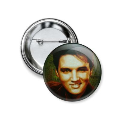 Значок 37мм  Elvis