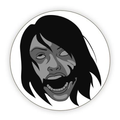 Костер (подставка под кружку) Девушка с улыбкой Джокера