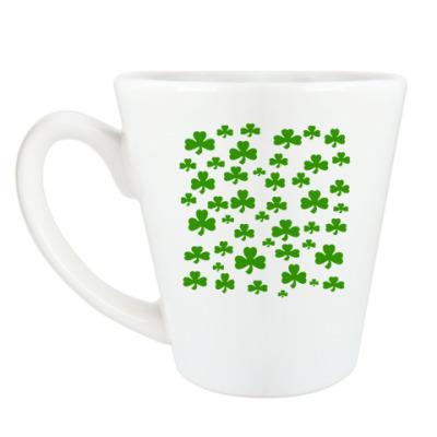 Чашка Латте 'Клевер'