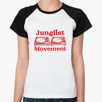 Женская футболка реглан  Джанглист Мувмент